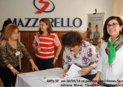 Palestra com Romeu Sassaki, Adriana Moral, Claudio Arruda e Patrícia Vieira