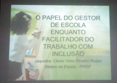 Palestra da Jacqueline Vioto Russo Rinaldi na Faculdade Flamingo para alunos da Pedagogia e Educação Física