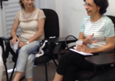 Banca de titularidade de Rosana Maria Pereira Borges, com as convidadas Teresa Messeder Andion, Rebeca Lescher Nogueira Oliveira e Cecília Melo Faro